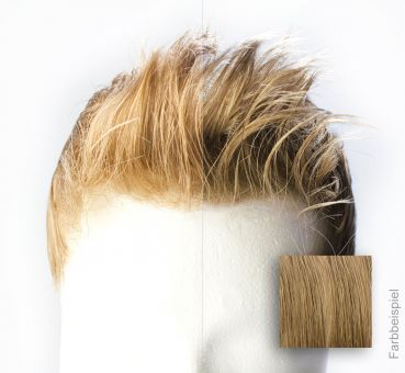 Monofilament - French Lace Toupet - Farbe #12R Mittelblond