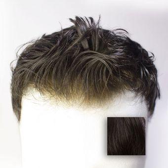 Monofilament  (PU) - French Lace Toupet - Farbe #1B Schwarzbraun