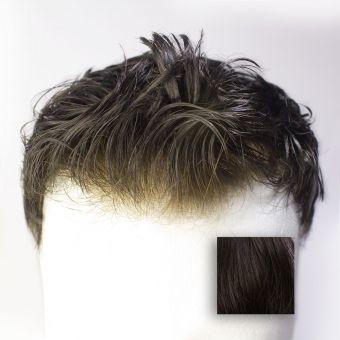 French Lace Toupet (PU) - Farbe #1B Schwarzbraun
