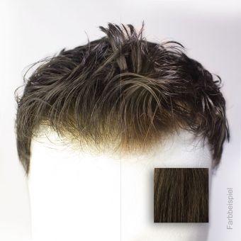 Monofilament  (PU) - French Lace Toupet - Farbe #2 Dunkelbraun